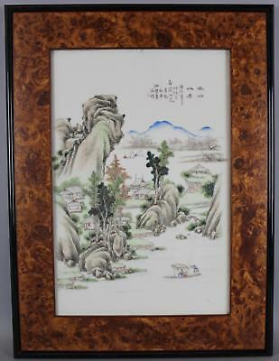 18th/19thC Antique Chinese Porcelain Plaque Architectural Tile Painting