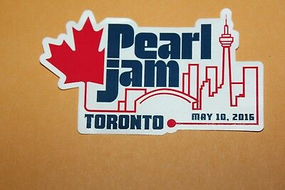 2016 PEARL JAM Sticker - 05/10/16 Toronto, ON Not Poster Lightning Bolt SOLD OUT