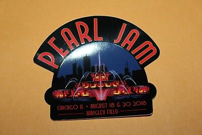 2018 PEARL JAM Sticker - 08/18 & 20/18 Chicago, ON Not Poster SOLD OUT Wrigley