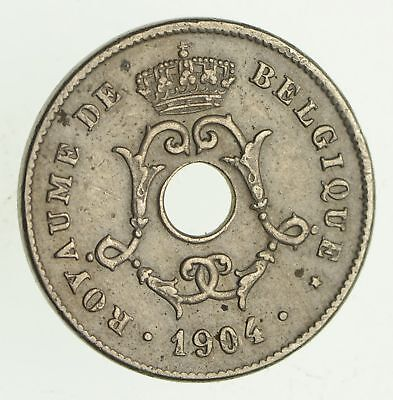1904 Belgium 10 Centimes - Historic World Coin *506