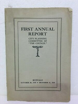 Antique Booklet 1918 1st Annual Report City Planning The Council Buffalo NY USA