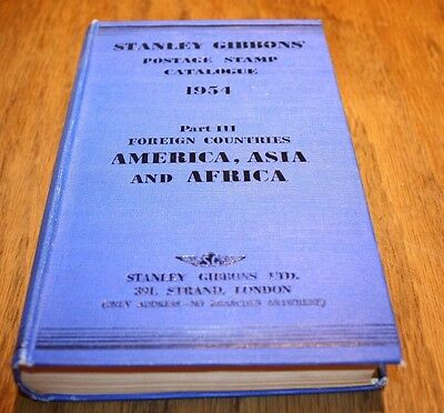 Postage Stamps Catalogue 1954 Stanley Gibbons