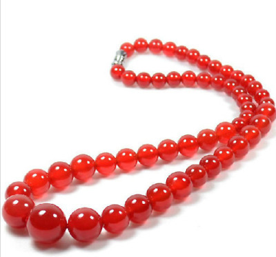 100% china Natural hand carved Brazilian red jade tower chain necklace Good
