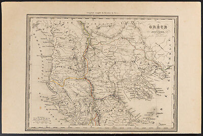 1840 - Old map of the greece antique (Dufour Picquet) map ancient greece