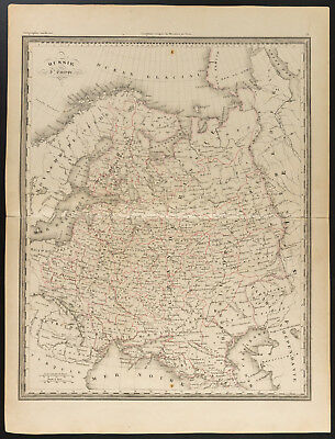 1840 - Old Map of the Russia Europe (Dufour & Picquet) Map of Russia