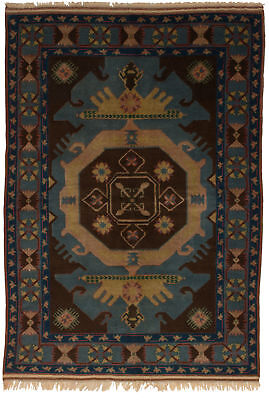 "Hand-knotted Turkish 5'2"" x 7'9"" Antique Shiravan Wool Rug...DISCOUNTED!"