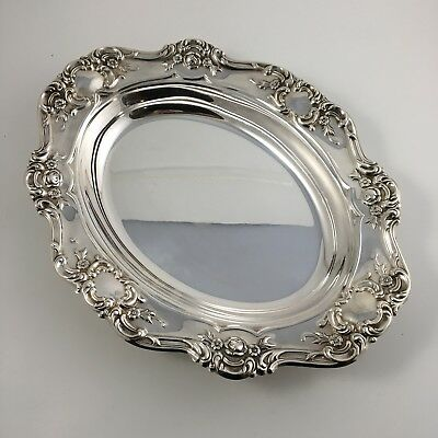 """Vintage Towle Old Master 13"""" Oval Vegetable Bowl Silver plate 4080"""