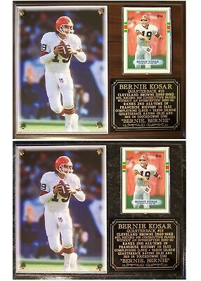 Bernie Kosar 19 Cleveland Browns Photo Card Plaque