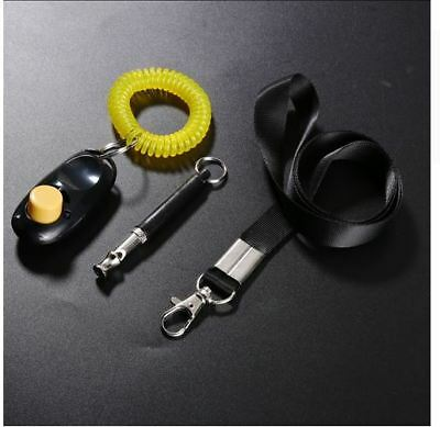 3 in 1 Ultrasonic Dog Training Supplies Whistle + Pet Training Clicker
