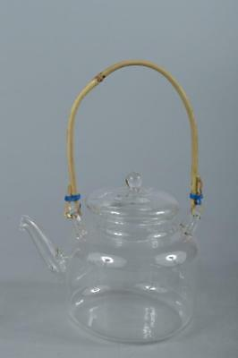 R3657: Japanese Glass TEAPOT Kyusu Sencha Tea Ceremony