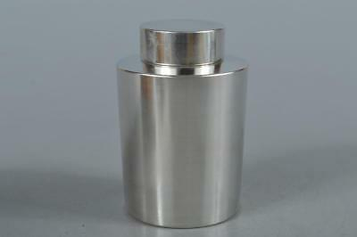 R3705: Japanese Tin Shapely TEA CADDY Chaire Container, Seika made Tea Ceremony