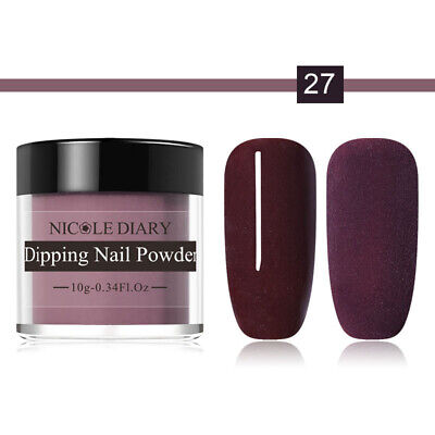 NICOLE DIARY Nail Art Dipping System Powder Dip Natural Dry No Need Lamp Dust