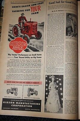 TRACTOR 1949 vintage magazine ad advertising print  GIBSON MODEL D TRACTORS