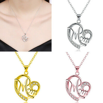 Women Lady Mom Pendant Necklace Gift for Mother Daughter Grandmother Jewelry NEW