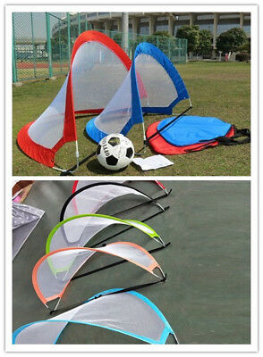 Football Folding Portable Soccer Goal Set Post Net Child Training Practice Net
