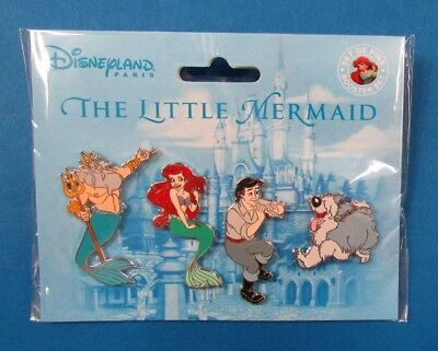 Disney Pin DLP - Little Mermaid Booster Set - King Triton Eric Ariel and Max