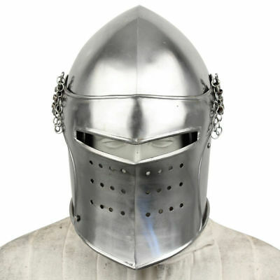 Medieval-Stainless-Steel-Knight-Armor-SCA-LARP-SUPER Helment+exp. shipping