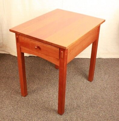 Leopold Stickley Accent Side End Drawer Occasional Table Cherry Mission Style
