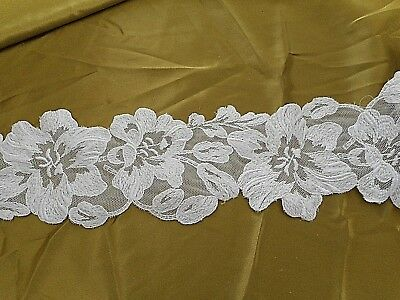 Vintage embroidered tulle lace trim