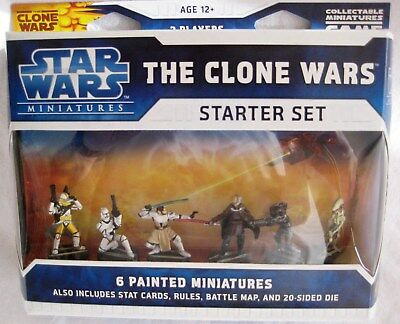 Star Wars Miniatures CW STARTER SET (WOTC) with 6 Figures -New & Sealed LAST ONE