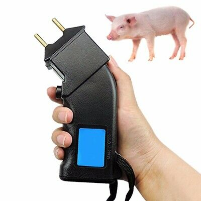 Electric Hand Cattle Prod Dairy Dogs Sheep Battery Power Prodder Animals 4000V