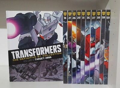 Transformers - The Definitive G1 Collection New and sealed 11 Book Bundle  (b)