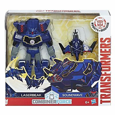 Transformers Robots In Disguise Combiner Force Activator SOUNDWAVE and LASERBEAK