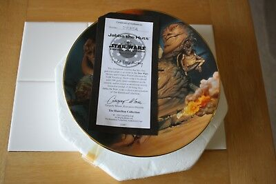 Star Wars Heroes and Villains Jabba the Hutt Collector Plate 1999 w/ styro box