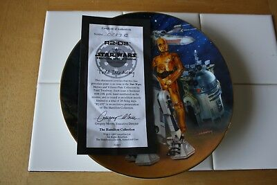 Star Wars Heroes and Villains R2-D2 Collector Plate 1999 w/ styro box