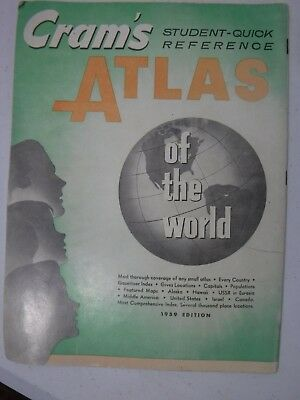 Cram's Student Quick Reference Atlas of the World Paperback 1959 Edition