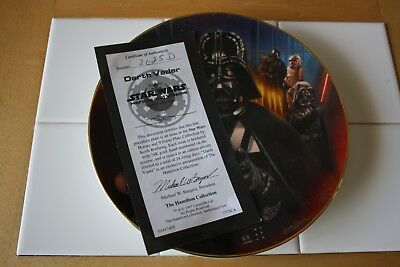 Star Wars Heroes and Villains Darth Vader Collector Plate 1997 w/ styro box