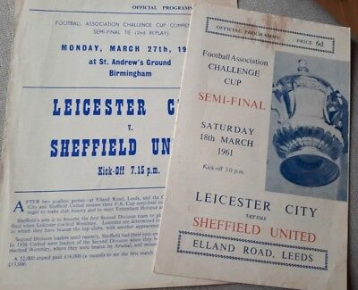 1961 Fa Cup Semi Final & 2nd Replay - Leicester City v Sheffield United