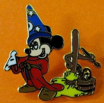 Disney Pin Through The Years 1940 Fantasia Sorcerer Mickey & Broom