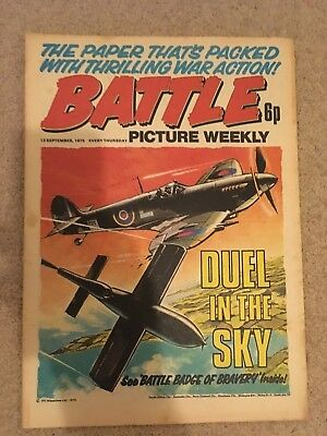 BATTLE PICTURE WEEKLY issue #28 : 13 Sep 1975 - classic boys' war comic