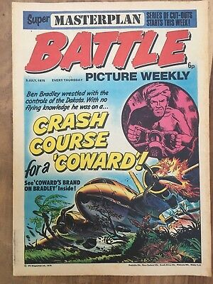 BATTLE PICTURE WEEKLY issue #18 : 5 July 1975 - classic boys' war comic