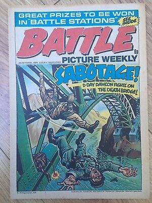 BATTLE PICTURE WEEKLY issue #34 : 25 Oct 1975 - classic boys' war comic