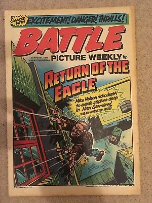 BATTLE PICTURE WEEKLY issue #25 : 23 Aug 1975 - classic boys' war comic