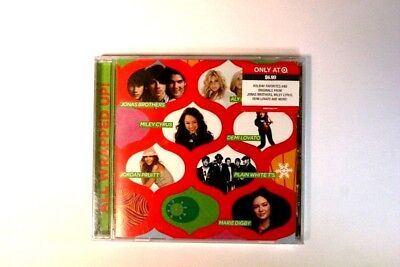 Lot Of 3 All Enveloppé Up! Holiday Noël Musique CD Jonas Brothers Miley Cyrus