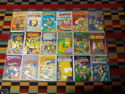 The Simpsons - x18 collection of comics / graphic novels RRP £8.99