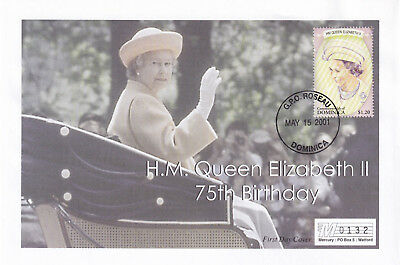 (21886) Dominica Mercury Cover Queen 75th Birthday 15 May 2001