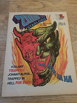 2000AD and STARLORD - Prog 118 - 23 JUNE 1979 -  Strontium Dog Cover - RARE