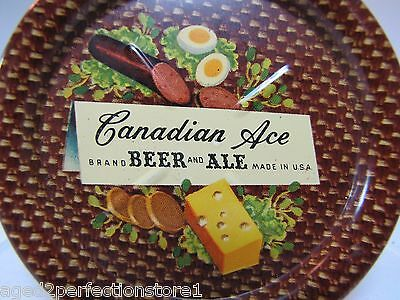 Old CANADIAN ACE BEER & ALE Tray SAUSAGE DEVILED EGGS CHEESE CRACKERS made USA
