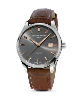 Frederique Constant - Grey Dial - Rose Gold - Leather E-Strap Watch FC-303LGR5B6