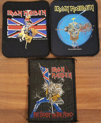 Patch Aufnäher Iron Maiden heavy metal old school rock the beast on the road