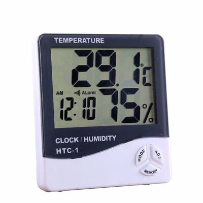 High Precision Indoor Electronic Thermometer Hygrometer With Alarm Clock Htc-1AU