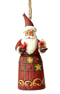 Jim Shore*FOLKLORE SANTA with BIRDHOUSE & CARDINAL ORNAMENT*New 2018*NIB*6001450