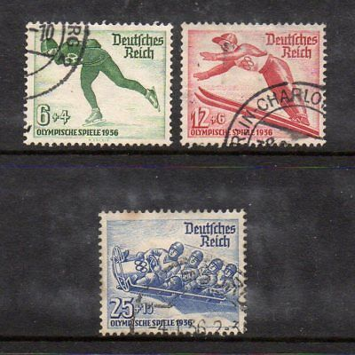 Germany Third Reich 1935 Winter Olympics Set Sg597-99 Good Used High Cat £15