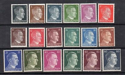 Germany Third Reich 1941 20 Different Hitler Definitives - Mounted Mint