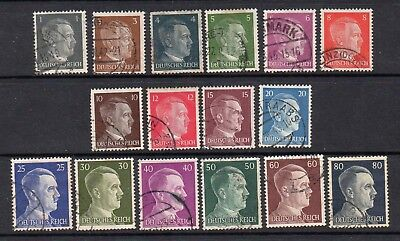 Germany Third Reich 1941 17 Different Hitler Definitives - Good Used