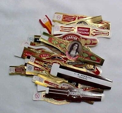 Qty of (30) Vintage Cigar Bands - All Different #11